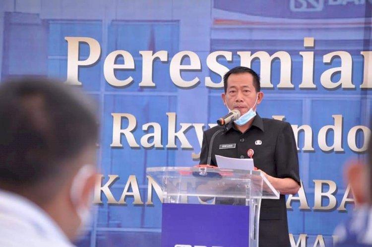 Hadiri Peresmian Gedung Baru Bank BRI Kanca Nunukan, Sekda: Keberadaan Bank BRI di Kabupaten Nunukan Bantu Petumbuhan Ekonomi